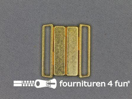 Inhaakgesp 25mm goud