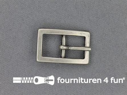 Metalen gesp 10mm  zwart zilver