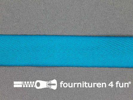 Luxe keperband 20mm donker aqua blauw