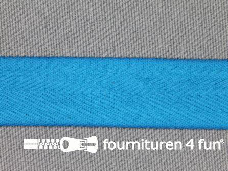 Luxe keperband 25mm donker aqua blauw