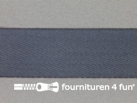 Luxe keperband 30mm donker grijs