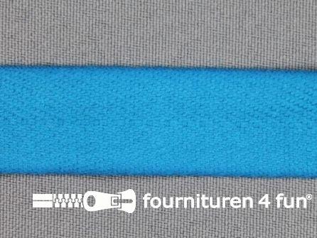Luxe keperband 30mm donker aqua blauw