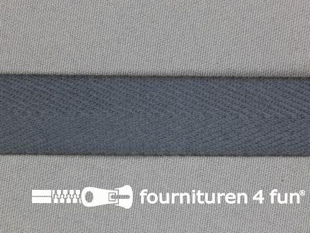 Luxe keperband 25mm donker grijs