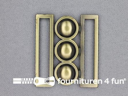 Inhaakgesp 40mm brons