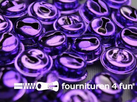 Belletjes 16mm paars 10 stuks