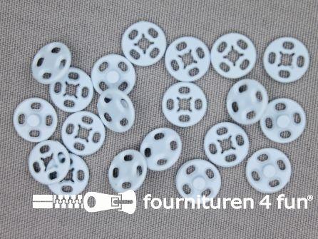 Mantel drukkers 10mm baby blauw 10 stuks