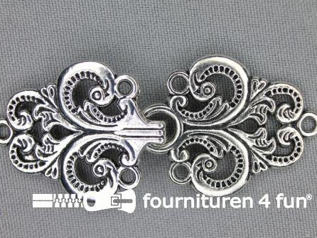 Siersluiting 28x65mm zilver
