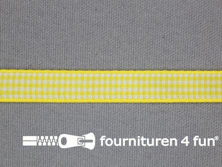 Ruitjes lint 10mm geel