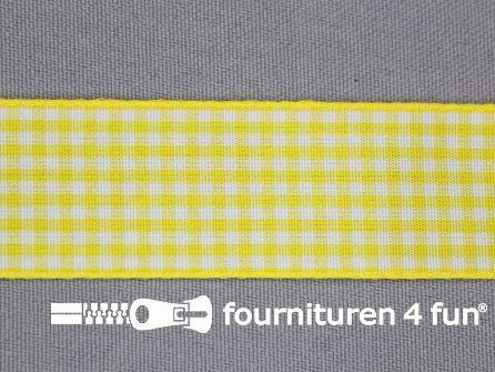 Ruitjes lint 24mm geel