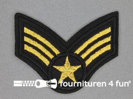 Stoere applicatie 65x53mm militair