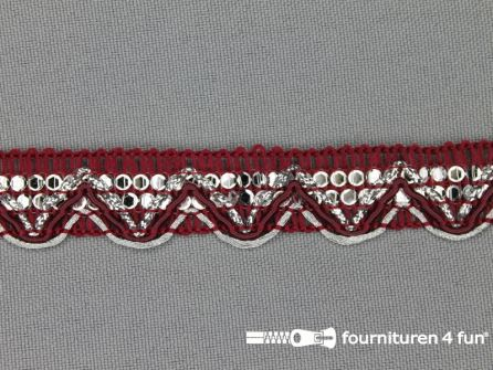 Party band 17mm bordeaux rood