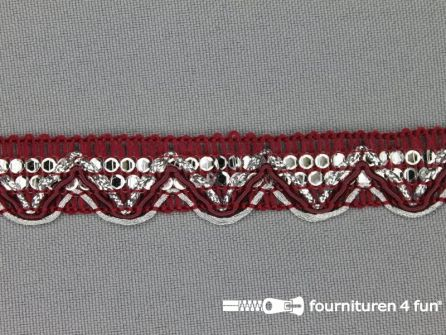 100 meter party band 17mm bordeaux rood