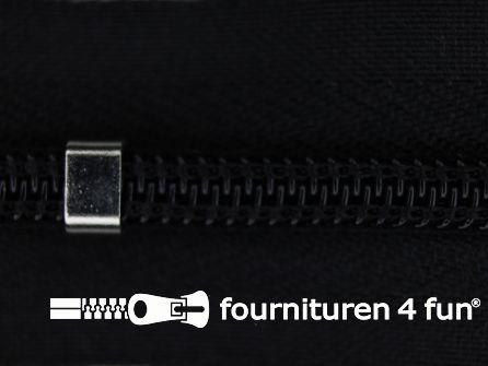 Niet deelbare blinde rits - verstelbaar - 4mm zwart
