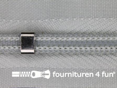 Niet deelbare blinde rits - verstelbaar - 4mm licht grijs