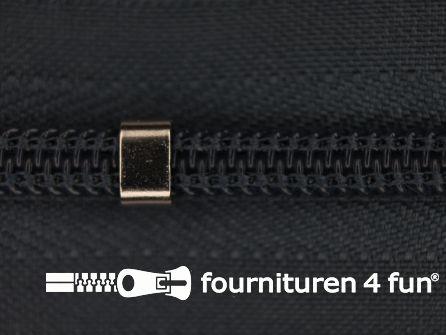 Niet deelbare blinde rits - verstelbaar - 4mm staal grijs