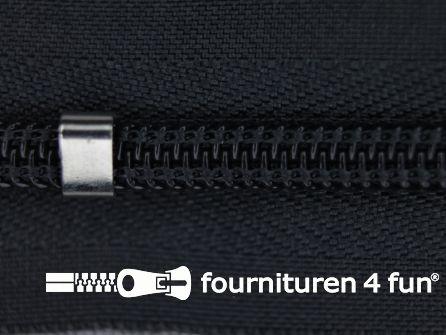 Niet deelbare blinde rits - verstelbaar - 4mm donker grijs