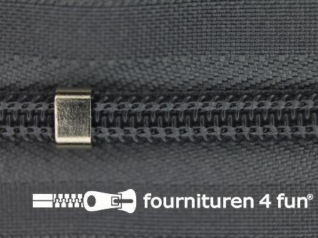 Niet deelbare blinde rits - verstelbaar - 4mm midden grijs