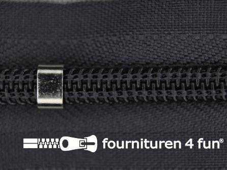 Niet deelbare blinde rits - verstelbaar - 4mm donker muisgrijs