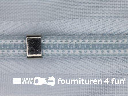 Niet deelbare blinde rits - verstelbaar - 4mm licht blauw