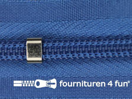 Niet deelbare blinde rits - verstelbaar - 4mm kobalt blauw