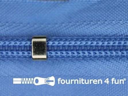 Niet deelbare blinde rits - verstelbaar - 4mm hemels blauw