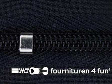 Niet deelbare blinde rits - verstelbaar - 4mm donker blauw