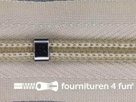 Niet deelbare blinde rits - verstelbaar - 4mm zand beige