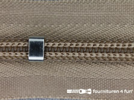 Niet deelbare blinde rits - verstelbaar - 4mm beige