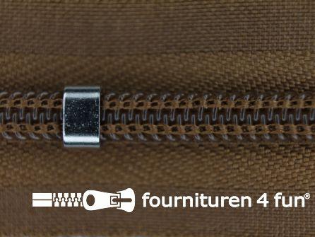 Niet deelbare blinde rits - verstelbaar - 4mm camel bruin
