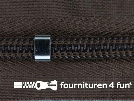 Niet deelbare blinde rits - verstelbaar - 4mm bruin
