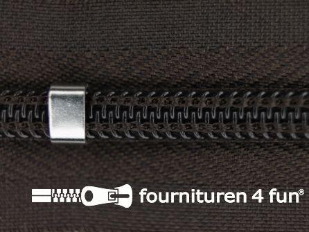 Niet deelbare blinde rits - verstelbaar - 4mm donker bruin