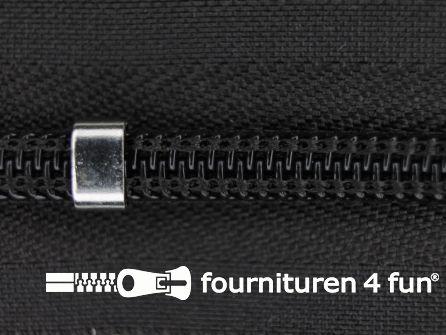 Niet deelbare blinde rits - verstelbaar - 4mm heel donker bruin