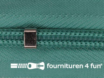 Niet deelbare blinde rits - verstelbaar - 4mm emerald groen