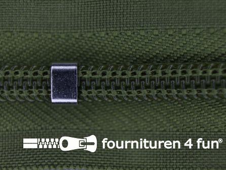 Niet deelbare blinde rits - verstelbaar - 4mm olijf groen