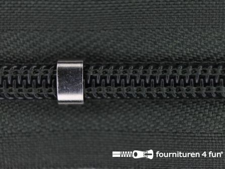 Niet deelbare blinde rits - verstelbaar - 4mm jager groen