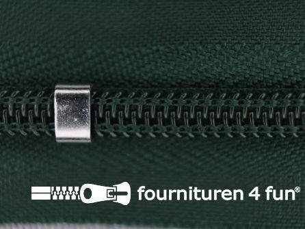 Niet deelbare blinde rits - verstelbaar - 4mm flessen groen