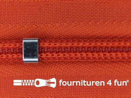 Niet deelbare blinde rits - verstelbaar - 4mm oranje