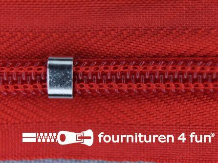 Niet deelbare blinde rits - verstelbaar - 4mm rood