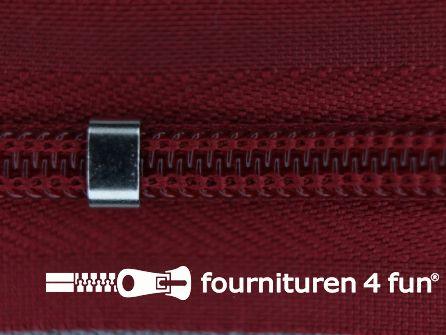 Niet deelbare blinde rits - verstelbaar - 4mm donker rood