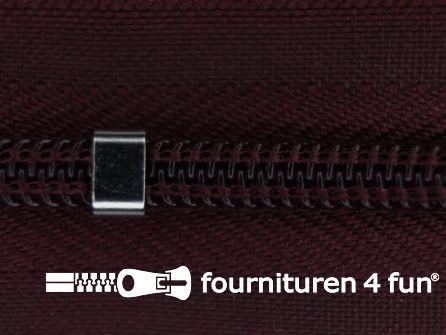 Niet deelbare blinde rits - verstelbaar - 4mm bordeaux rood