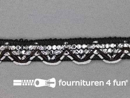 Party band 17mm zwart-zilver