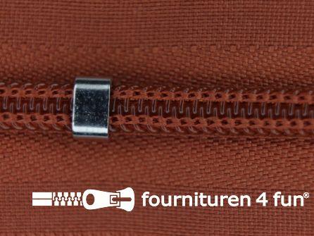 Niet deelbare blinde rits - verstelbaar - 4mm roest bruin
