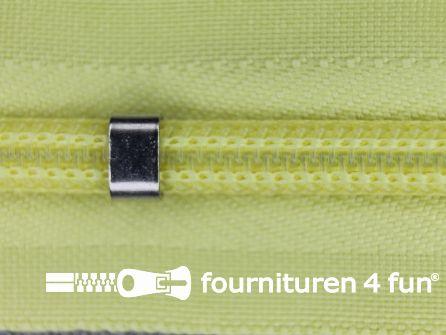 Niet deelbare blinde rits - verstelbaar - 4mm licht citroen geel