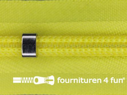 Niet deelbare blinde rits - verstelbaar - 4mm fel geel