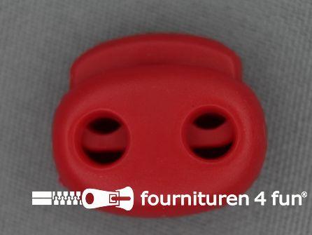 Koord stopper 21mm dubbel rood