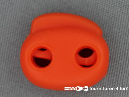 Koord stopper 21mm dubbel donker oranje