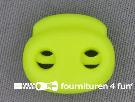 Koord stopper 21mm dubbel neon geel