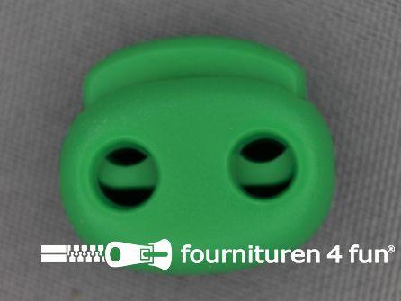 Koord stopper 21mm dubbel gras groen