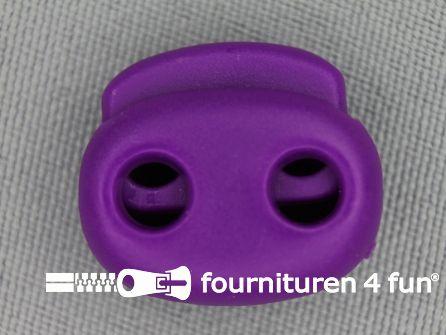 Koord stopper 21mm dubbel cyclaam - paars