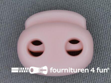Koord stopper 21mm dubbel licht roze